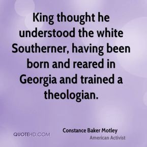 King thought he understood the white Southerner, having been born and ...