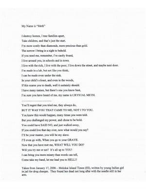 destroy homes and familys poem