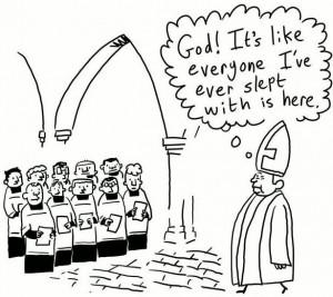 Catholic Priest Walks By A Children's Choir…
