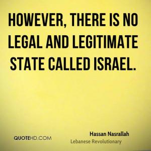 Hassan Nasrallah Legal Quotes