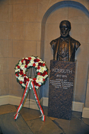 The Louis Kossuth Bust in the United States Capitol - March 15, 1990