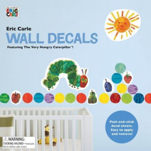 Eric Carle Wall Decals : Featuring the Very Hungry Caterpillar - Eric ...