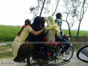 Funny Indian Family Riding Bike Like A Boss