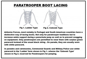 Paratrooper Boot Lacing