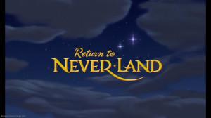 Disney Return to Neverland