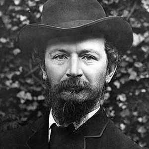 photograph of Algernon Charles Swinburne.