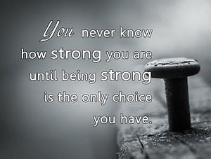 Metal-Sign-pictorial-Inspirational-BEING-STRONG-quote-tin-wall-plaque ...