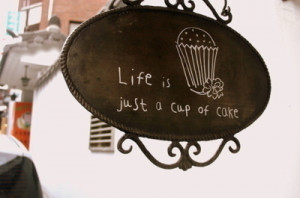 cafe, cake, cupcake, cute, love, quote