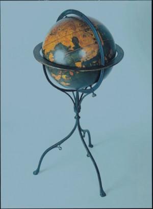 """Facsimile Behaim Globe showing the """"Tiger Leg"""" in S.E. Asia"""