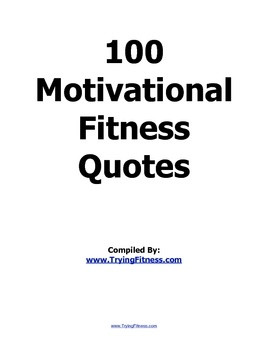100 Motivational Fitness Quotes