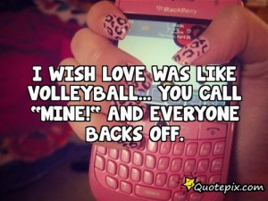 Volleyball Love Quotes Download this quote