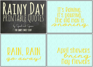 Coordinating Rainy Day Printables by Spool and Spoon for Sumo's Sweet ...