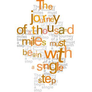 ... print Digital print Spiritual quote Orange typographical art