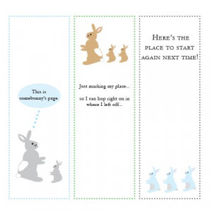 Rabbits -- printables with cute sayings