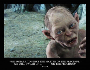 LOTR 30 day challenge day 27: favorite antagonist: Gollum. He is a ...