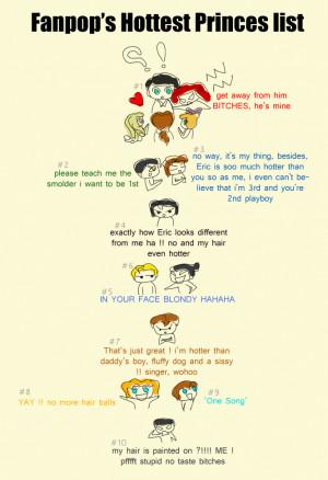 Disney Princess Fanpop's Hottest Princes list