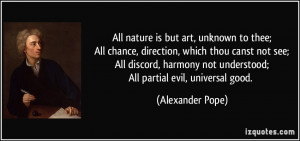 All nature is but art, unknown to thee;All chance, direction, which ...