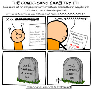 The Comic-Sans Game! – Try it!