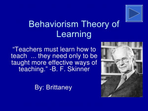 Behaviorism Theory of Learning