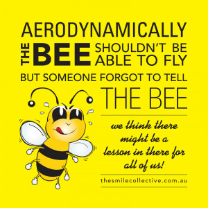What we can all learn from the bee!!
