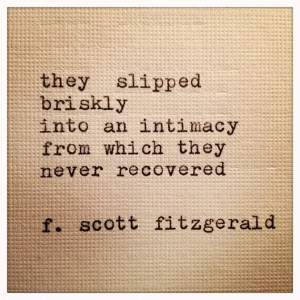 Scott Fitzgerald Framed Love Quote Made On Typewriter