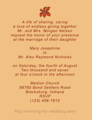 unique wedding invitation wording samples-94