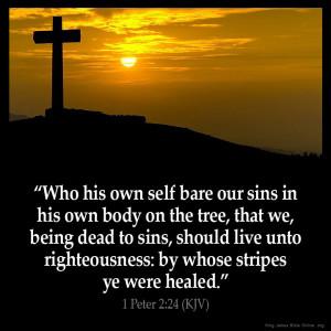 Peter 2:24 Inspirational Image