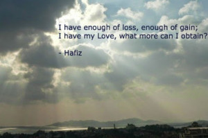 Quote poetry of Hafiz English version