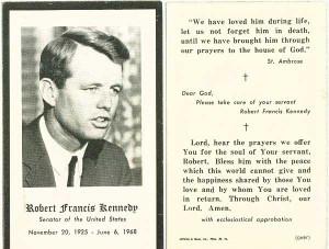 Catholic RFK Robert F. Kennedy bobby kennedy robert kennedy funeral