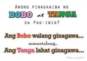 Tanga Quotes And Bobo Pinoy Funny Tagalog