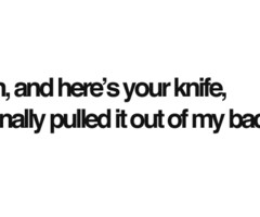 Backstabbing Friends Quotes...