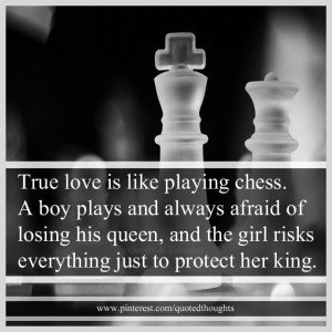 ... his queen, and the girl risks everything just to protect her king