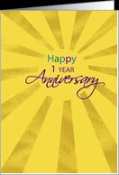 Employee Anniversary One Year card - Product #559224
