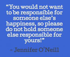 ... agree! Take responsibility for things and stop blaming everyone else