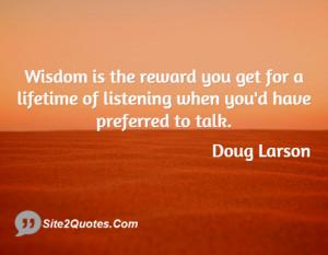 Inspirational Quotes - Doug Larson