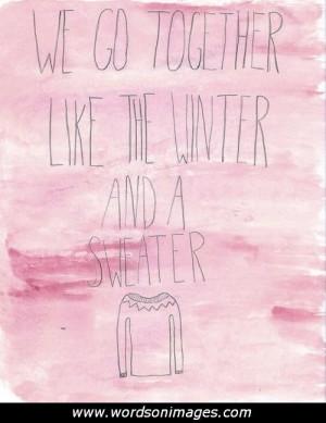 Winter love quotes