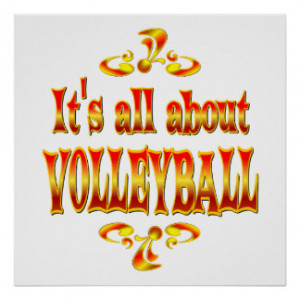 Volleyball Sayings Posters