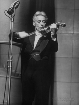Fritz Kreisler, Austrian-Born Violinist and Composer, Playing Violin ...