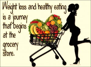 weight loss begins in the grocery store Healthy Eating Quotes