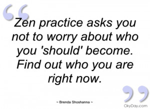 zen practice asks you not to worry about