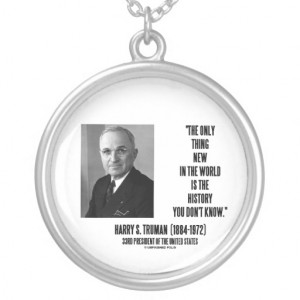 quote necklace featuring a memorable funny quote by 33rd president