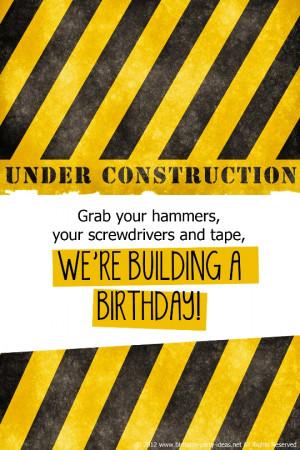 Construction Birthday...