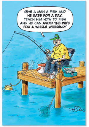... Fisherman Joke Hilarious Pic Birthday Father Greeting Card Nobleworks