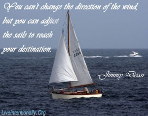 Inspirational Quote: You can't change the direction of the wind, but ...