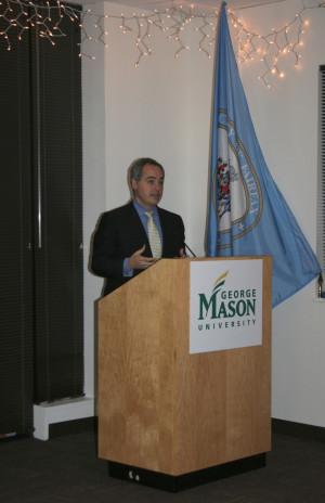 GMU President, Dr. Àngel Cabrera, delivers a few inspiring words ...