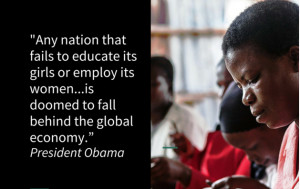Below are 4 Quotes of Obama that spoke up for women in Kenya.
