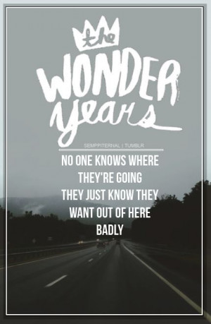 Hoodie Weather , The Wonder Years