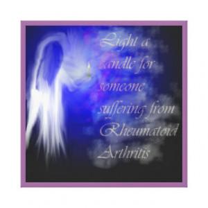 Shine A Light on Rheumatoid Arthritis Gallery Wrapped Canvas