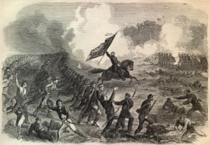THE BATTLE OF GETTYSBURG—ATTACK OF THE LOUISIANA TIGERS ON A BATTERY ...