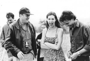 ... bernardo bertolucci still of liv tyler and bernardo bertolucci in